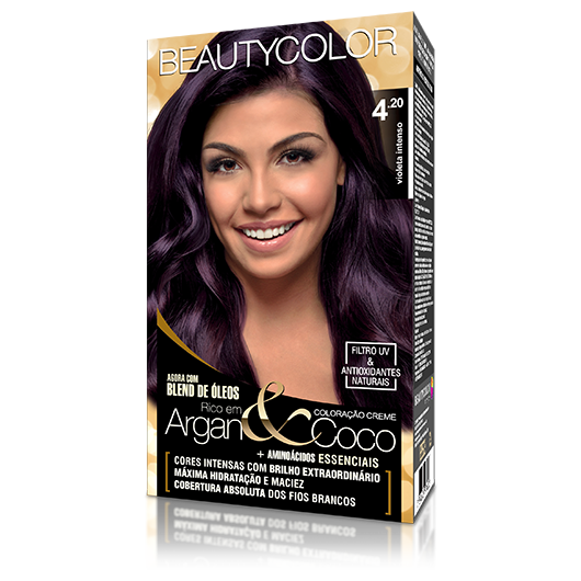 Coloração BeautyColor Permanente Kit - 4.20 Violeta Intenso