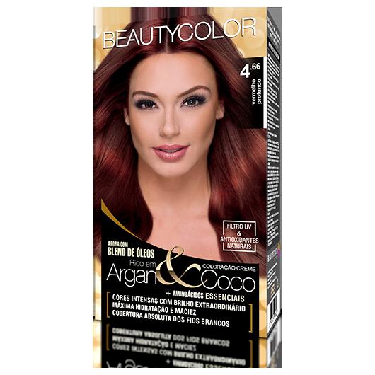 Coloração BeautyColor Permanente Kit - 4.66 Vermelho Profundo