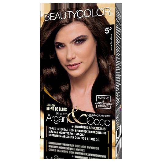 Coloração BeautyColor Permanente Kit - 5.0 Castanho Claro