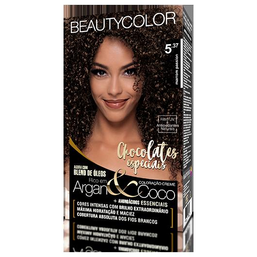 Coloração BeautyColor Permanente Kit - 5.37 Marrom Passion