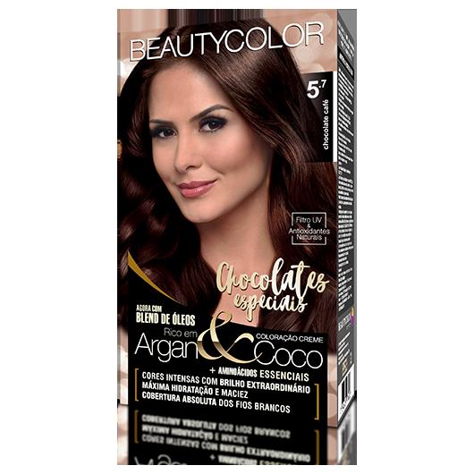 Coloração BeautyColor Permanente Kit - 5.7 Chocolate Café