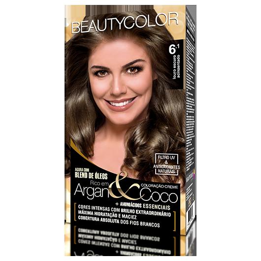 Coloração BeautyColor Permanente Kit - 6.1 Louro Escuro Acinzentado