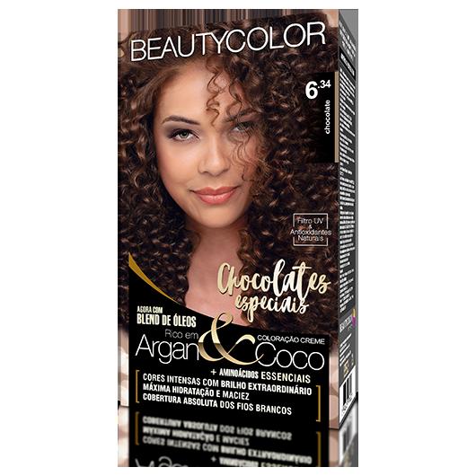 Coloração BeautyColor Permanente Kit - 6.34 Chocolate