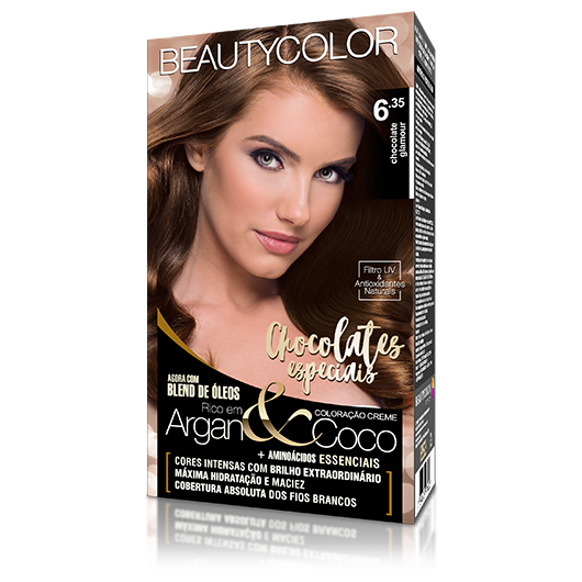 Coloração BeautyColor Permanente Kit - 6.35 Chocolate Glamour