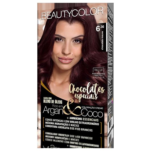 Coloração BeautyColor Permanente Kit - 6.36 Chocolate Mauve