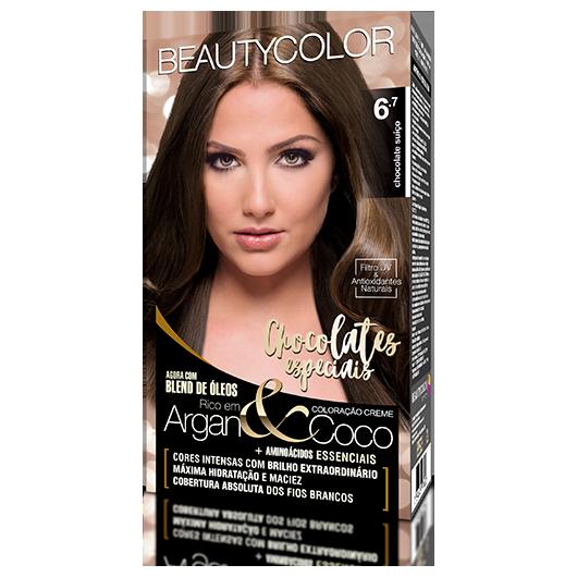 Coloração BeautyColor Permanente Kit - 6.7 Chocolate Suíço