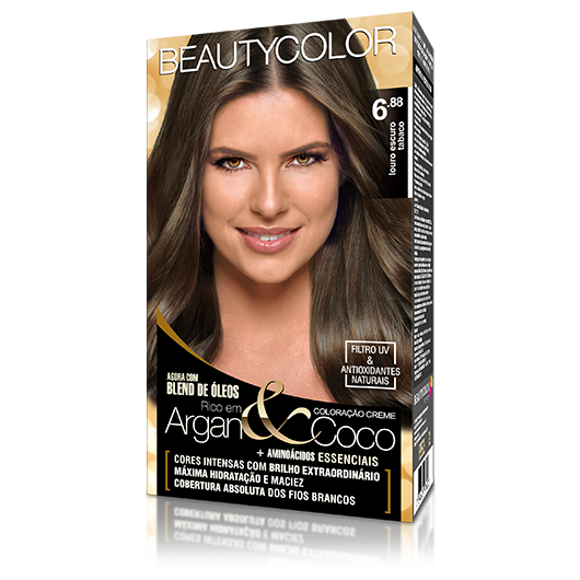 Coloração BeautyColor Permanente Kit - 6.88 Louro Escuro Tabaco