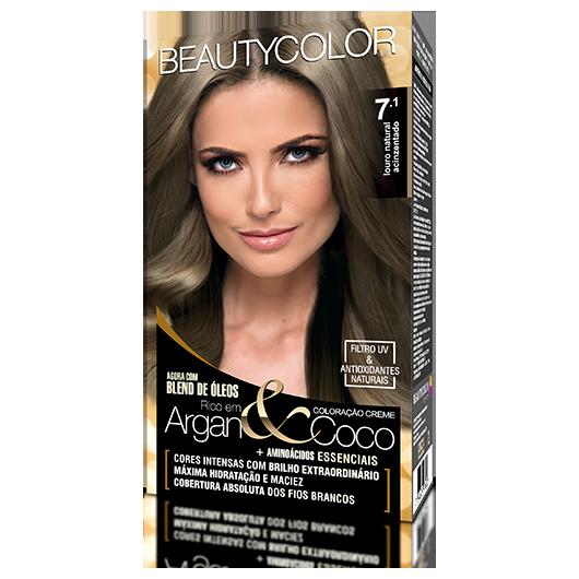 Coloração BeautyColor Permanente Kit - 7.1 Louro Natural Acinzentado