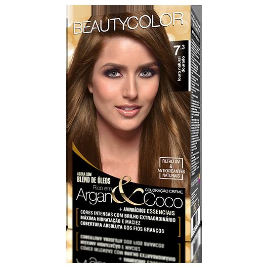 Coloração BeautyColor Permanente Kit - 7.3 Louro Natural Dourado