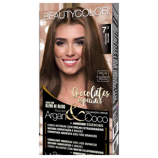 Coloração BeautyColor Permanente Kit - 7.7 Chocolate Dourado