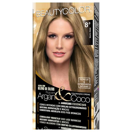 Coloração BeautyColor Permanente Kit - 8.0 Louro Claro