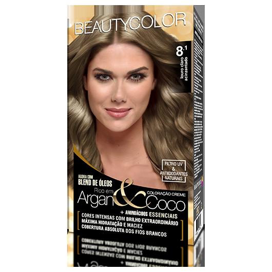 Coloração BeautyColor Permanente Kit - 8.1 Louro Claro Acinzentado
