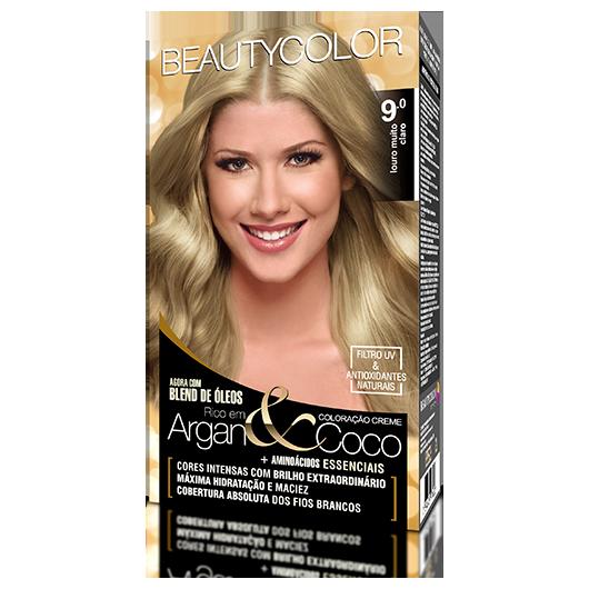 Coloração BeautyColor Permanente Kit - 9.0 Louro Muito Claro