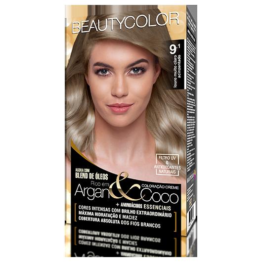 Coloração BeautyColor Permanente Kit - 9.1 Louro Muito Claro Acinzentado