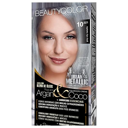 Coloração BeautyColor Permanente Kit Urban Metalic - 10.021 Grey City