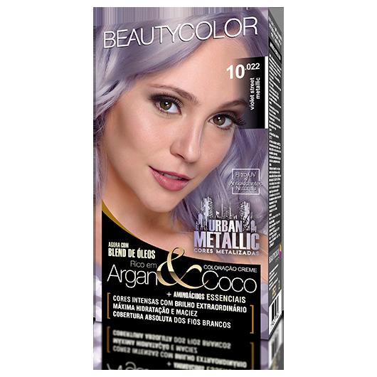 Coloração BeautyColor Permanente Kit Urban Metalic - 10.022 Violet Street