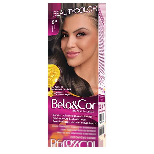 Coloração Bela&Cor Kit  -5.0 Castanho Claro