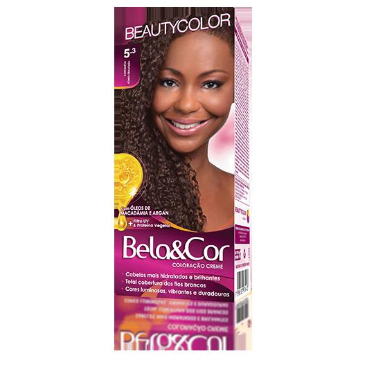 Coloração Bela&Cor Kit  - 5.3 Castanho Claro Dourado