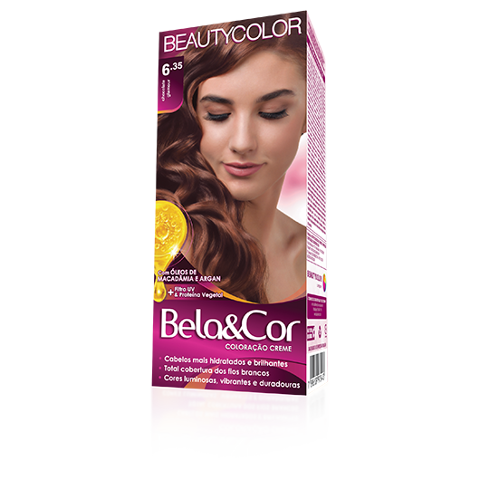 Coloração Bela&Cor Kit  - 6.35 Chocolate Glamour