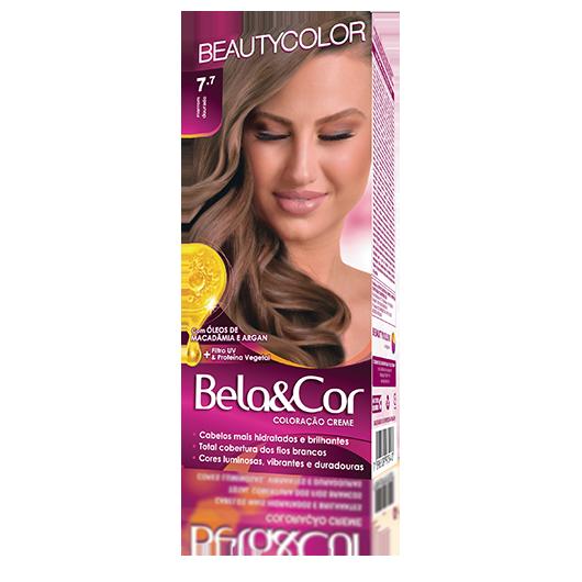 Coloração Bela&Cor Kit  - 7.7 Marrom Dourado