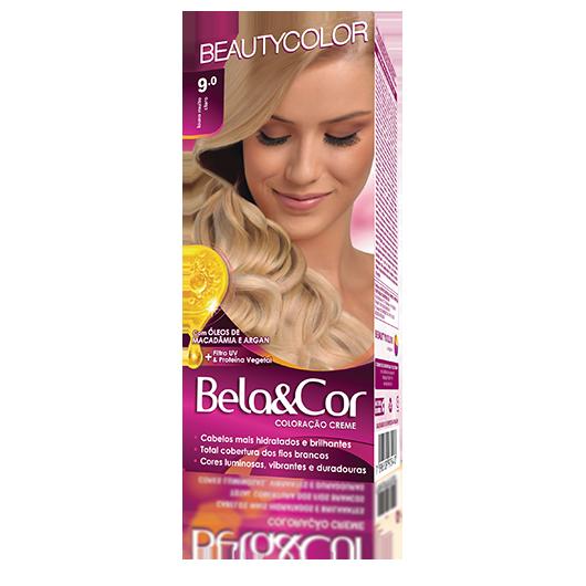Coloração Bela&Cor Kit  - 9.0 Louro Muito Claro