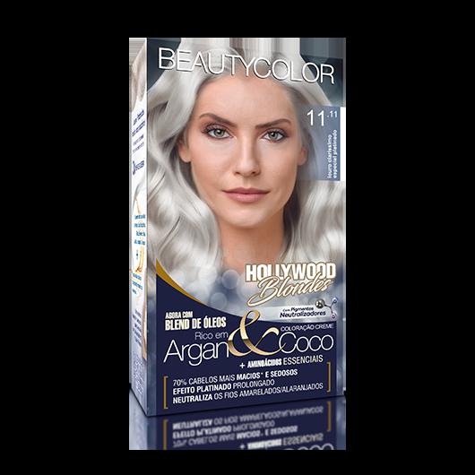 Coloração Permanente Kit Hollywood Blondes - 11.11 Louro Claris Especial Platinado
