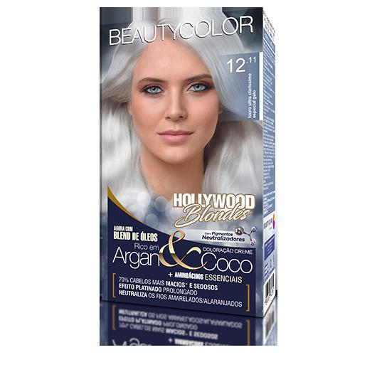 Coloração Permanente Kit Hollywood Blondes - 12.11 Louro Ultra Claris Especial Gelo