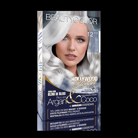 Coloração Permanente Kit Hollywood Blondes - 12.122 Louro Ultra Claris Especial Extra Violeta