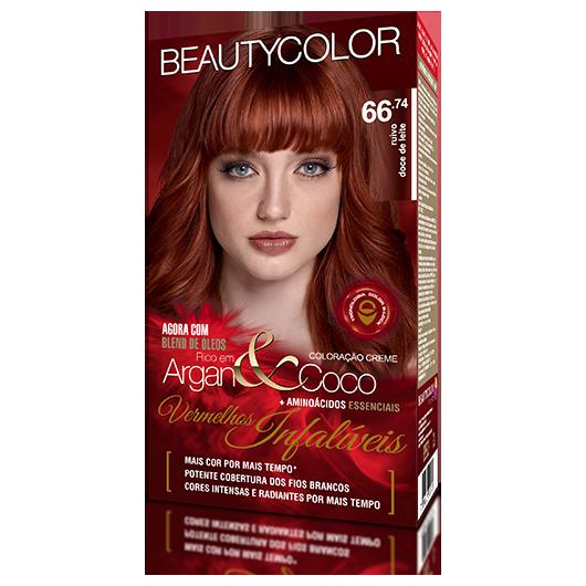 Coloração Permanente Kit Vermelhos Infalíveis  - 66.74 Ruivo Doce de Leite