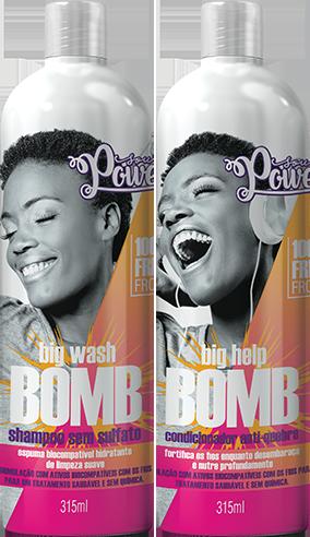 Kit Shampoo & Condicionador Bomb