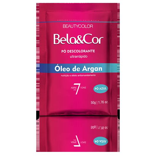 Pó Descolorante Óleo de Argan Bela&Cor 50g