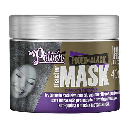 Poder do Black Master Mask - Máscara de Hidratação Intensiva Soul Power