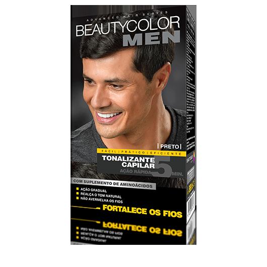 Preto - Tonalizante Gel s/ Amônia Beautycolor Men