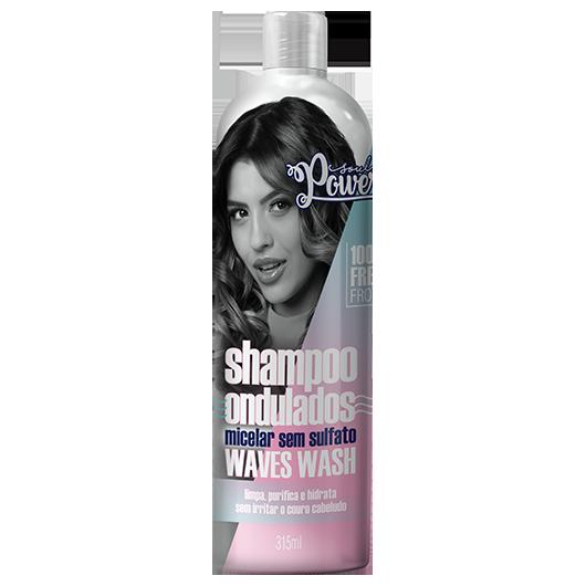 Waves Wash - Shampoo Micelar sem Sulfato Soul Power