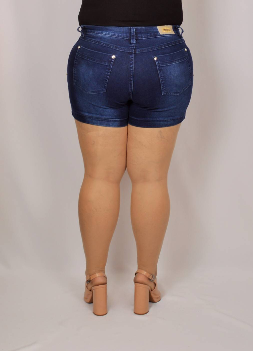SHORT JEANS STONE USED PLUS SIZE