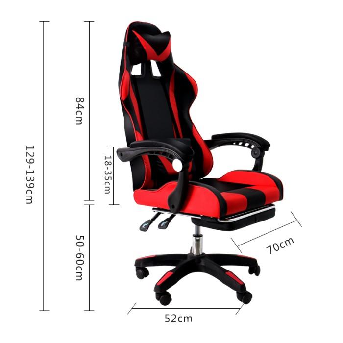 Cadeira gamer com descanso de pé  - F-TEC Com de Produtos Gerais