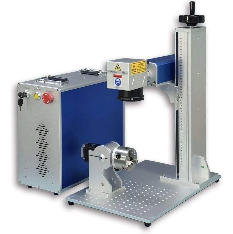 Máquina De Gravação A Laser Metais Cnc Fiber Fibra 30w