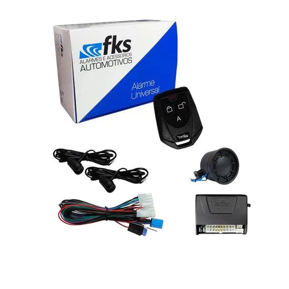 Alarme Automotivo Fks Universal Fk902 Sb Plus com controle