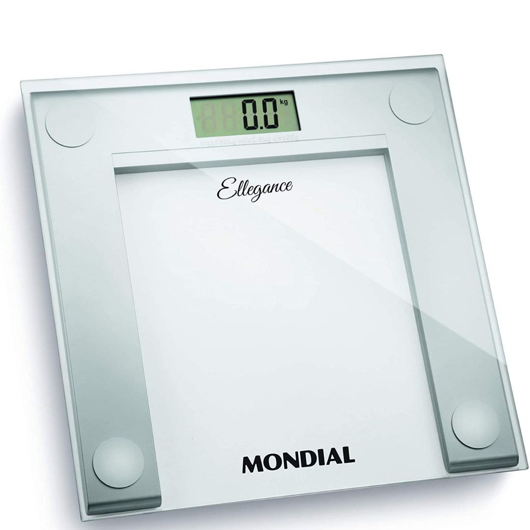Balança Digital Mondial Ellegance BL-03 de Vidro - Branca