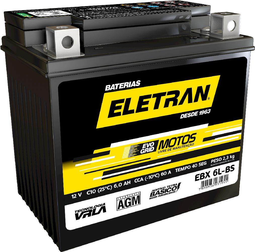 Bateria  Eletran Evogrid Motos - EBX 7 LBS