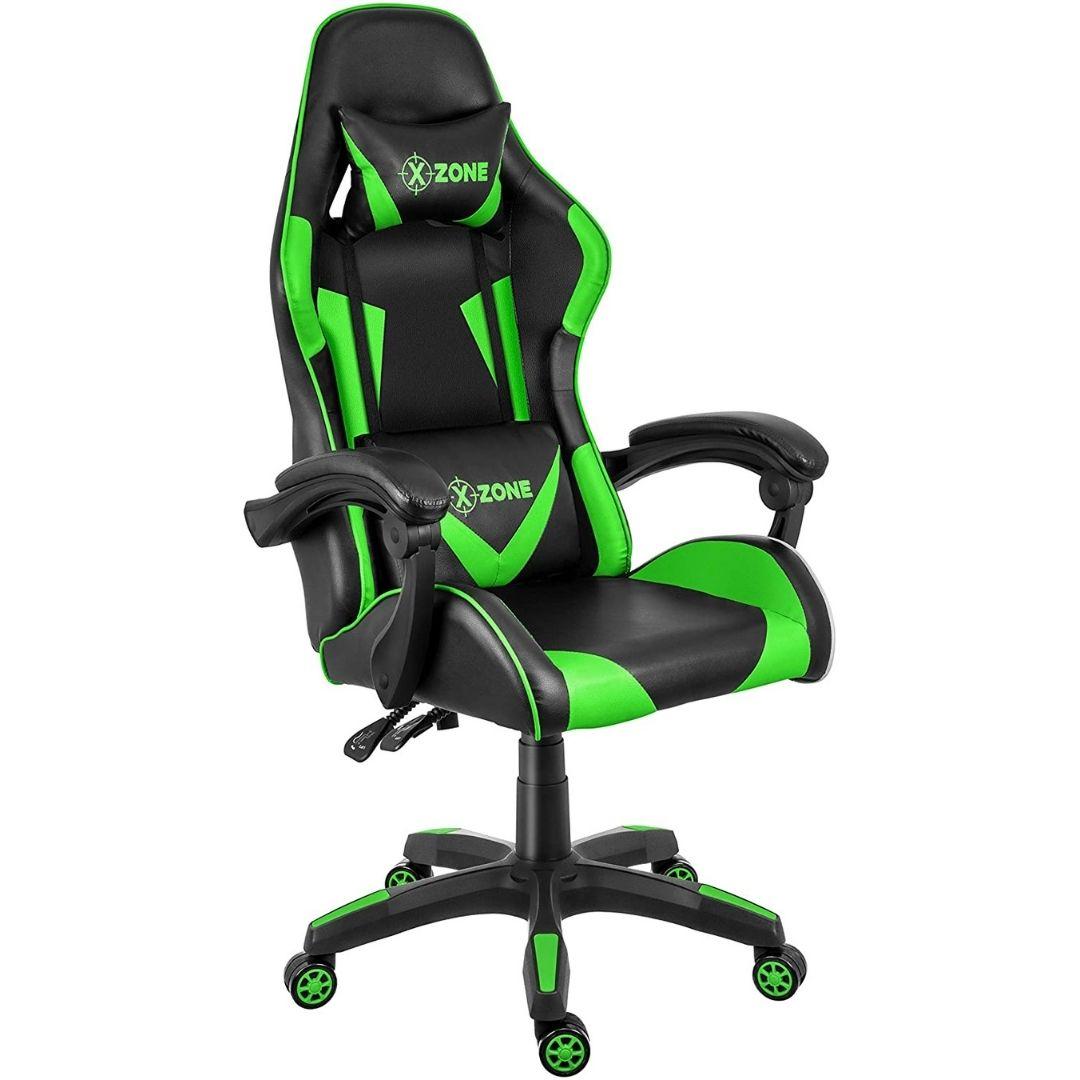 Cadeira Gamer Reclinável Premium X-Zone Cgr-01 Preta e Verde