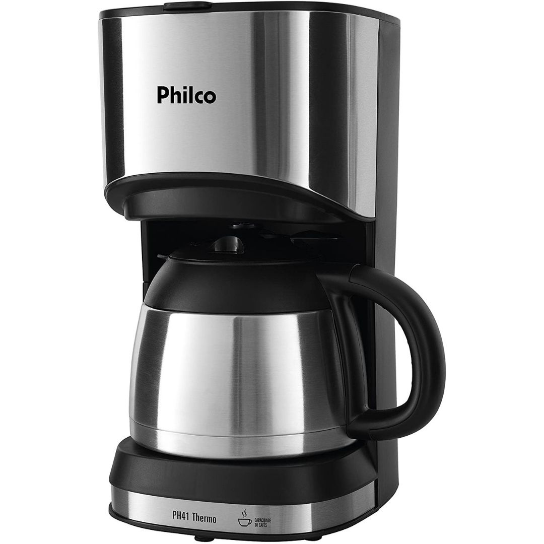 Cafeteira Semi Automática Philco PH41 Thermo 30 Xicaras