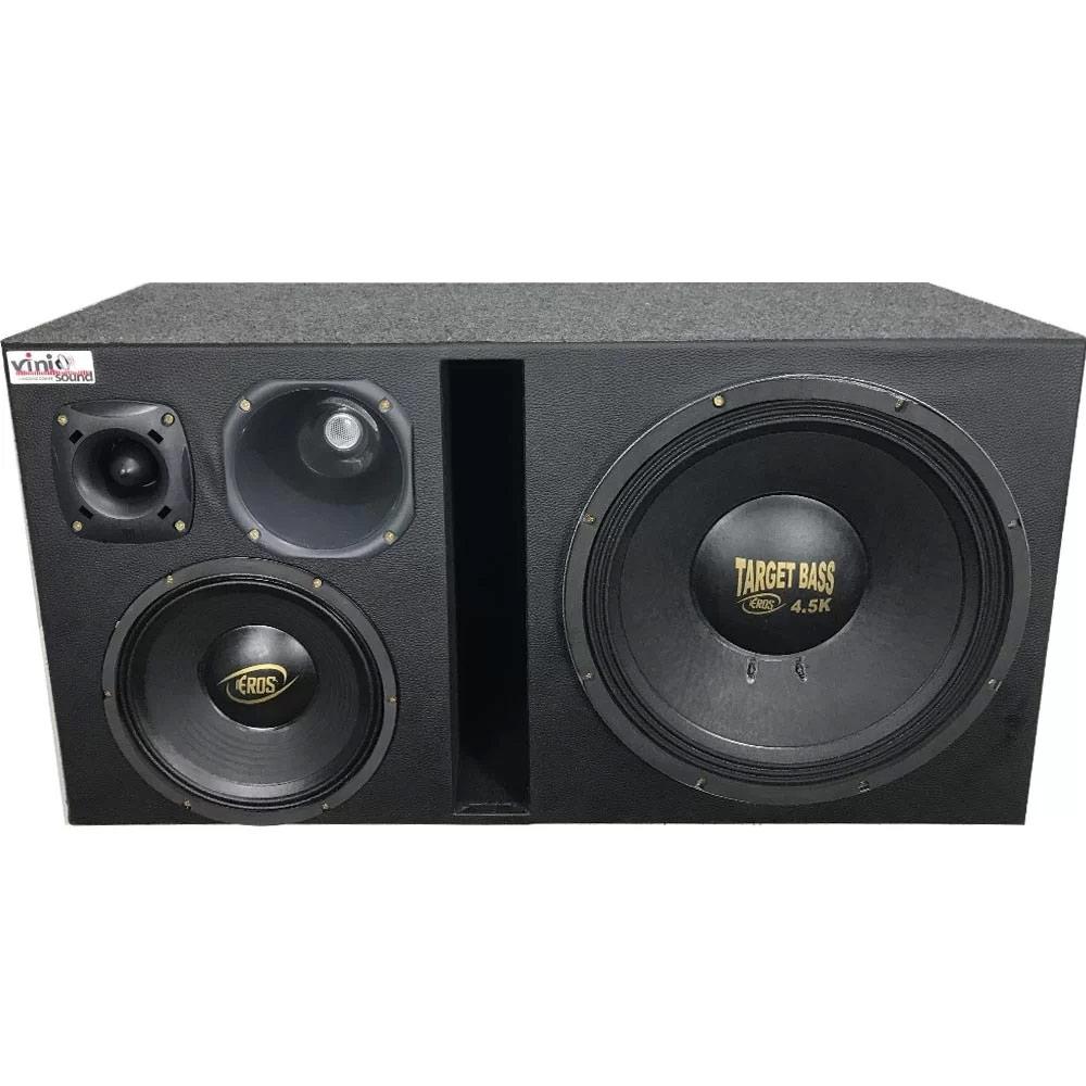 Caixa 4 Vias Eros 4.5 target bass + Médio 10' + D250x + ST200 2800W RMS
