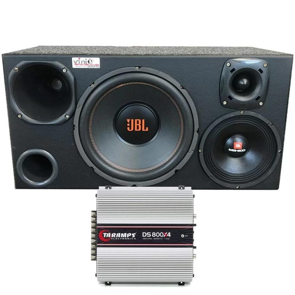 Caixa 4 vias JBL com Multisystem + 8MG600 + D200 + ST200 + DS800X4