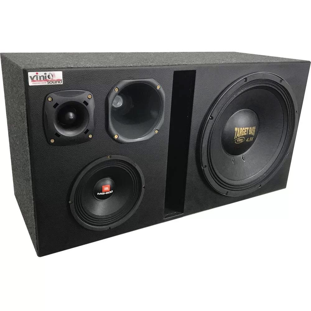 Caixa 4 vias Target Bass 4.5k + MG600 + D250x + ST200