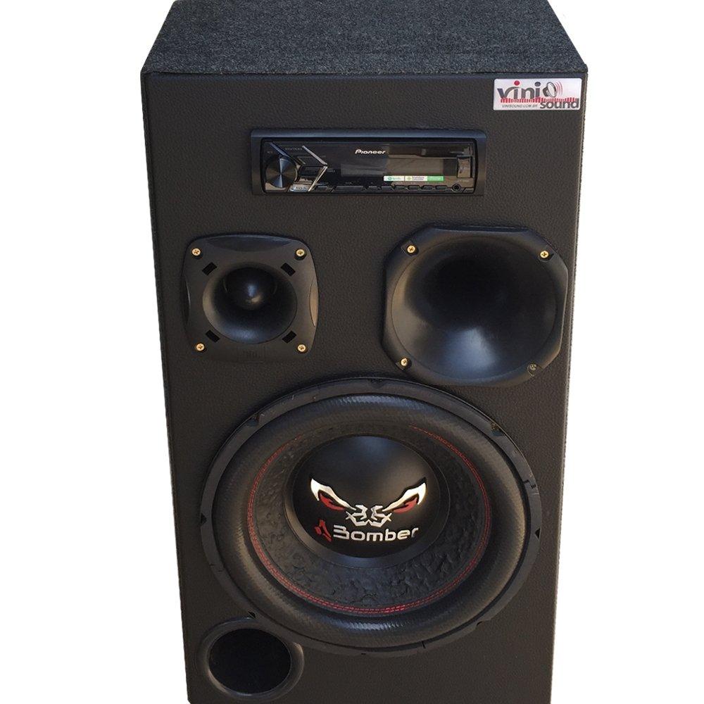 Caixa Automotiva Residencial Bluetooth Room Bomber Bicho Papão 800W