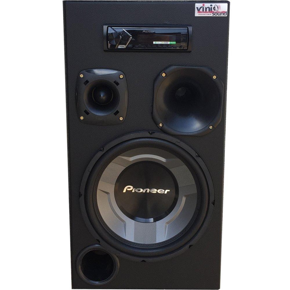 Caixa Automotiva Residencial Bluetooth Room Pioneer TS-W3060 COMPLETA