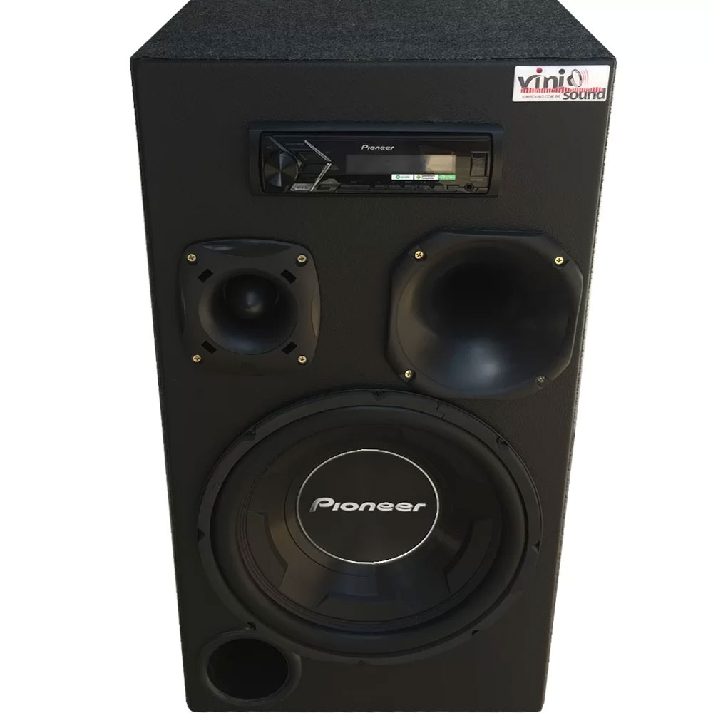 Caixa Automotiva Residencial Bluetooth Room Pioneer TS-W3090 COMPLETA