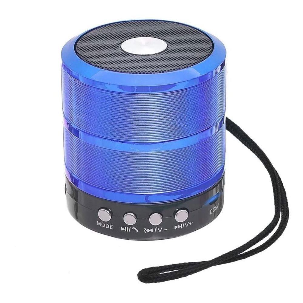 Caixa Bluetooth Grasep D-BH887 5w com Fm/Sd/Usb Azul
