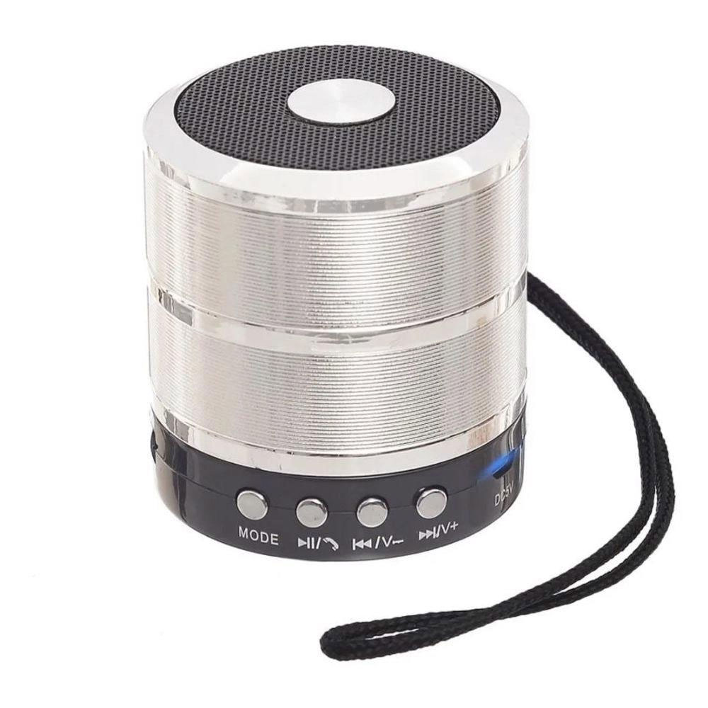 Caixa Bluetooth Grasep D-BH887 5w com Fm/Sd/Usb Prata